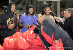 Alvin Kamara and Larry Morrow's fist annual Turkey Giveaway and Thanksgiving Fest held at Stallings Playground.