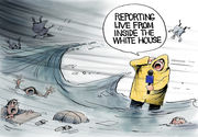 Editorial cartoons for Sept. 16, 2018: Hurricane Florence, Bob Woodward, vaping, 9/11