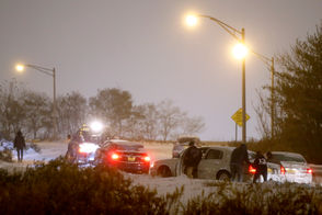 Motorists deal with getting stuck on an exit ramp of eastbound Route 78 in Newark. The first snowfall of the season hits Newark. Thursday November, 15, 2018. Newark, N.J., USA NJ Advance Media for NJ.com