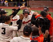 Kevin Abel's gem, hot bats power Oregon State Beavers past LSU, into super regional