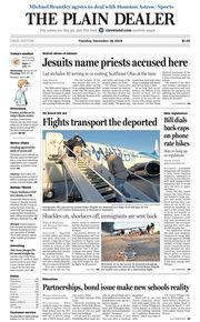 The Plain Dealer's front page for December 18, 2018
