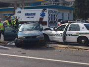 Palmer Township police car involved in crash by Palmer Park Mall