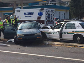 A Palmer Township police car was involved in a crash with a Toyota Camry the afternoon of Oct. 22, 2018 on Route 248
