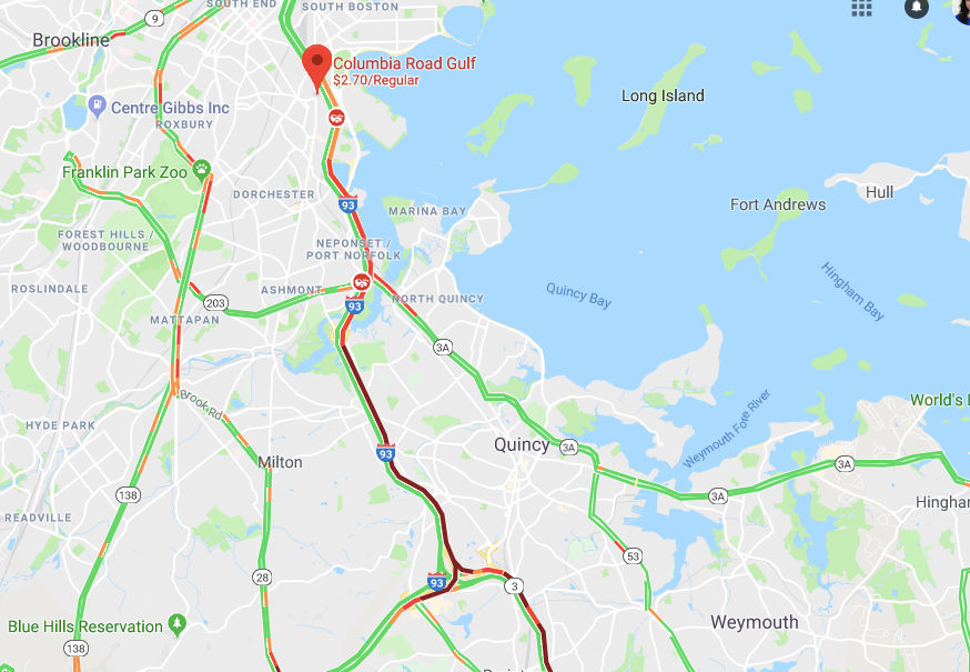 I-93 crash in South Boston causing hour-long delays