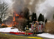 Crews battling Bushkill Township house fire