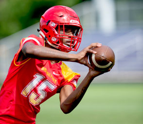 Markele Garrett is expected to take over at quarterback for his brother, Charles Garrett, who is on the Saginaw Valley State University roster. Garrett has a reliable safety valve in SirQuarius Ball, a 6-foot-4 leaper who is adept at winning jump-ball passes.