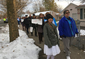 The Greater Springfield Campaign Nonviolence held a march calling for peace through the North End on Sunday.