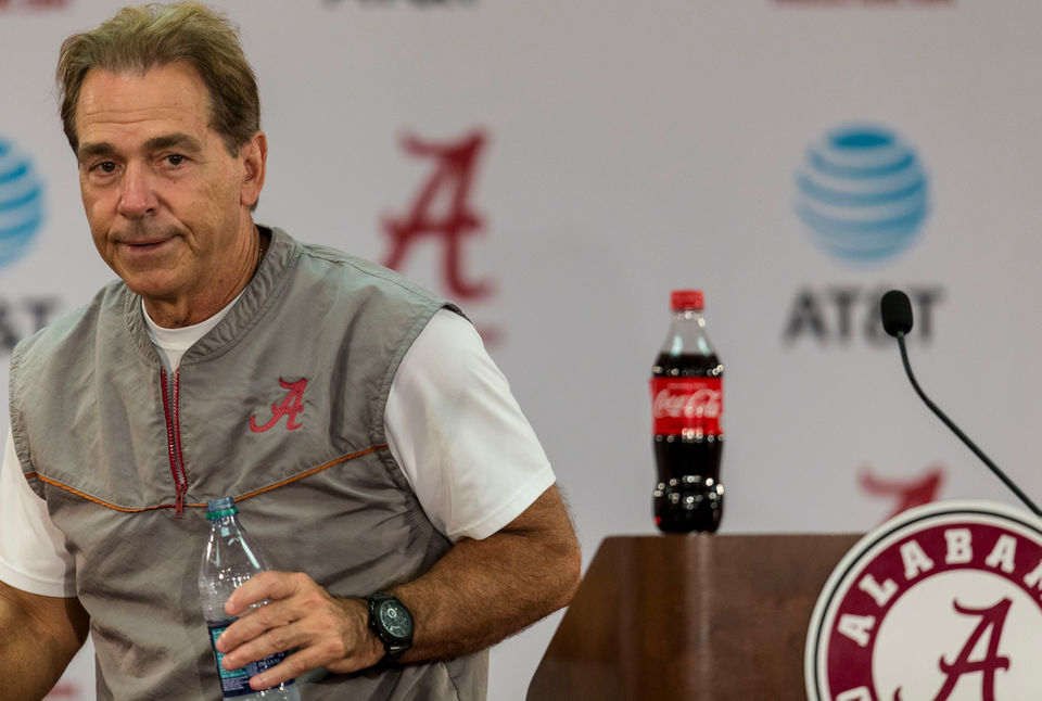 Alabama coach Nick Saban reveals weird lake habit
