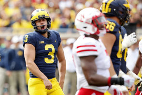 A muffed punt by Nebraska was recovered by Ambry Thomas and Michigan took over at the Nebraska 35. Nordin followed up his missed PAT by hitting a 50-yard field goal -- with plenty of leg to spare -- to give Michigan a 23-0 lead early in the second quarter.