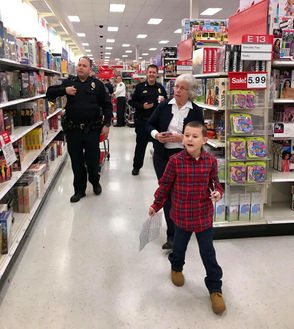 """The Cicero Police Benevolent Association held its annual """"Shop with a Cop"""" event Sunday at the Cicero Target."""