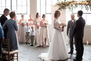 Vintage and modern mingle at romantic warehouse wedding (photos)
