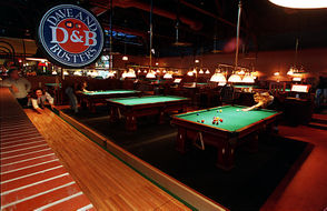 The pool tables are fancy It's not just about the arcade. Dave & Buster's also has pool tables, and operates under the claim of not being your typical pool hall. That's partly because the pool tables are handcrafted from mahogany and rosewood.