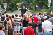 Jugglers, fire breathers among performers at first-ever Imlay City Busker Festival