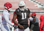 How is Johnathan Lewis improving his accuracy issues in Rutgers spring camp? It starts with pushups