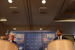 Incumbent U.S. Sen. Debbie Stabenow and Republican challenger John James have appeared onstage in both scheduled debates ahead of the Nov. 6 election. During a televised debate at WGVU in Grand Rapids Sunday and a Monday afternoon debate at the Motor City Casino and Hotel hosted by the Detroit Economic Club, James and Stabenow stuck to similar themes, pitting political experience with an outsider perspective. Over two days, the candidates tackled issues ranging from where they stand on health care, immigration, infrastructure, current trade policies to their positions on ballot questions and new Supreme Court Justice Brett Kavanaugh. But for both candidates, the main objective was convincing viewers that their background - decades of political experience for Stabenow, a background in business and military experience for James - made them more qualified to be in the U.S. Senate for the next six years. Read about Sunday's debate here: Stabenow, James face off in first of two U.S. Senate debates