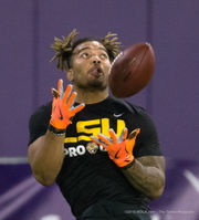 LSU's Pro Day was considerably more sedate than last year's event