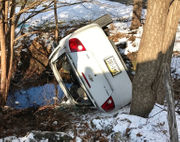 2 belted into car escape serious injury in rollover (PHOTOS)