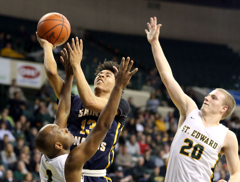 Cleveland high school boys basketball cleveland st edward basketball races to big halftime lead holds off rival st ignatius fandeluxe Image collections
