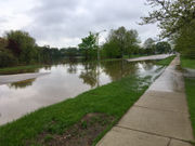 Portions of several roads closed due to flooding in Kalamazoo