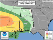 Strong to severe storms possible again starting tonight
