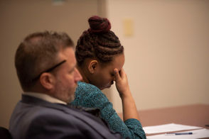 Lovily Johnson, 23, of Wyoming, is on trial this week in Kent County Circuit Court.
