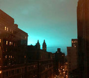 Gorgeous blue light in sky dazzles New Yorkers; officials insist it's not extraterrestrials (photos)