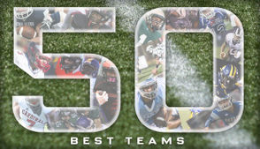 """It's Tuesday morning. That means, it's time to unveil the latest top 50 high school football statewide rankings. I'd like to say this poll is new and improved over what's been published in weeks past. Special thanks to """"Tommy Z"""" in the Twitter world for sharing his high school football knowledge and helping to change my perspective. Some teams made significant leaps in the poll, while others slipped a bit. Meanwhile, there is a new category line this week for each team: """"Projected division."""" That should help with perspective and a frame of reference. Continue scrolling to see the latest top 50."""