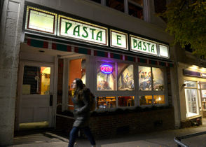 Pasta E Basta is located at 26 Main Street in downtown Amherst, Massachusetts.
