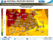 High wind warning issued for much of Central, Western Massachusetts
