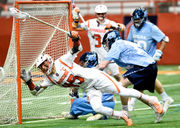 Freshman with famous last name comfortable driving Syracuse lacrosse to tense win