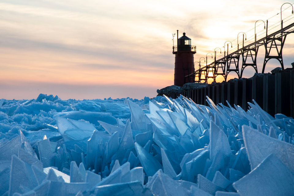 Gorgeous ice shards are piling up along Lake Michigan  MLive.com