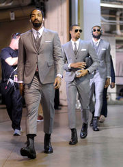 LeBron and Cavs suit up for playoffs in matching menswear by Thom Browne