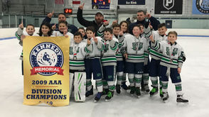 The 2009 Woodbridge Wolfpack Squirts, composed of several Staten Islanders, captured their third championship banner in five months by winning the AAA Division Championship of the Kennedy Memorial Hockey Tournament in Rhode Island last weekend. The team, coached by Mark Lotito, Bobby Kehley andAnthony Bracco, went 7-0 in the event, including a 4-1 triumph over the Maine Wild in the title game. The squad also won the Philadelphia Pre-Season Challenge Tournament last October and the USA Hockey War at the Shore Tournament at the Ocean Ice Palace in Brick, NJ. They did not lose a game in either of those events. Dylan Kehley, Robby Stanislaro, Jason Burzumato, Anthony Bracco, Charlie Bailey, Julian Paterno and Tony Di Biase are the Staten Islanders on the team. The other players are Christian Karas, Max Yakub, Alfonso Giaquinto, Philip Revzin, Franco Reinoso and Luke O'Driscoll.