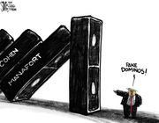 Editorial cartoons for Aug. 26, 2018: Cohen, Manafort and Trump
