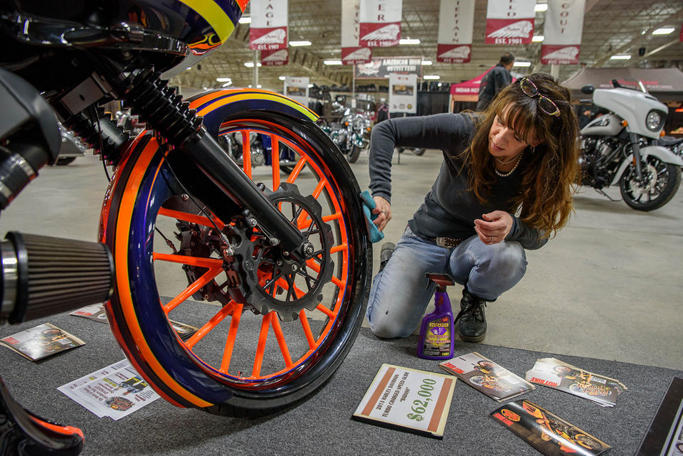 Bikers of all ages filled the Young Building to check out the latest on two wheels