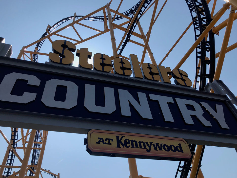 Cleveland Browns fan tackles Steel Curtain coaster at Pittsburgh's