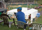 Custom-made chairs line Little League World Series hill