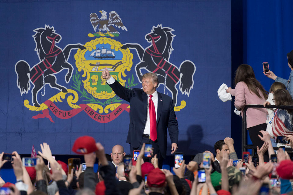 TRUMP RALLIES IN STEEL COUNTRY