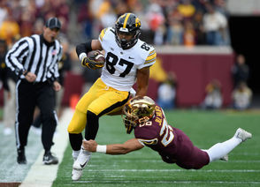 5. Noah Fant Position: Tight end College: Iowa Projection: Round 1-2 Projected by: Luke Easterling, Draft Wire With Gronkowski potentially retiring and Dwayne Allen a potential cap casualty, the Patriots are likely going to look long and hard at some of the top tight end prospects in this year's class. Fortunately for them, this is expected to be one of the deepest tight end groups to come out in a part. Part of that is because Fant is one of two tight ends from Iowa who could go in the first round. Fant, who weighs in at 6-foot-5, 241 pounds, has the size/speed combination you look for in a top tight end. He's not going to come in and be the next Gronk (no one is), but could present a solid successor in the offense.