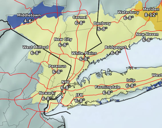N J  weather: Up to 8 inches of snow to slam state  Updated