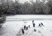 Causeway convoys begin; snow, sleet on north end