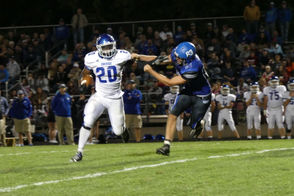"""MUSKEGON -- Blowouts were the name of the game in Week 5 of Muskegon-area high school football. Eleven of the 17 games involving area teams were decided by 33 or more points. In a few games critical to conference-title chases or playoff hopes, Montague blitzed Whitehall, 48-7; Oakridge slammed Ravenna, 48-12; and Muskegon Catholic Central was dominated by Cassopolis, 48-0, in the most lopsided loss in program history. Scroll down for more details from the Muskegon-area football scene Friday night, including those games listed in the paragraph above. PHOTO GALLERY: See Cory Morse's photos from Montague's big win over rival Whitehall PHOTO GALLERY: See Mike Krebs' photos from Mona Shores' """"Sailor Salute"""" night PHOTO GALLERY: See MLive courtesy photos of Oakridge's convincing win at Ravenna STATEWIDE SCORES: Get Week 5 scores from across the state"""