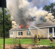 Fire badly damages home in Lacombe