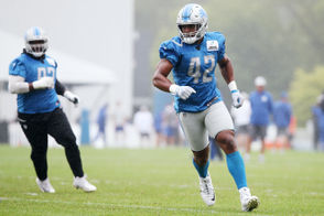 Photos from the Detroit Lions and New York Giants walkthrough practice before their preseason matchup Friday.