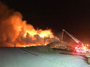 Blaze devours 40-foot-tall wood chip pile at Hillsboro landfill