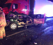 4-vehicle I-84 crash in Portland injures 1, closes portion of highway