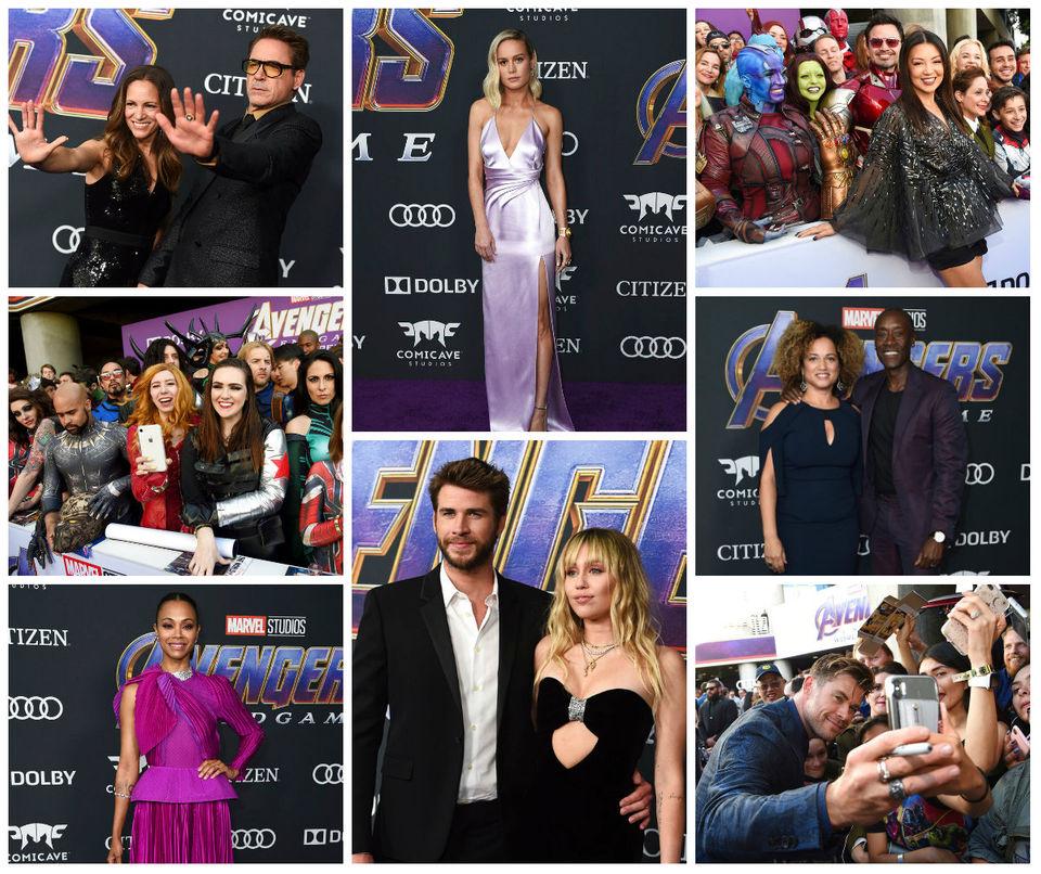 Avengers Endgame Premiere Photos See Stars Celebrate