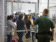 Hundreds of children wait in Border Patrol facility in Texas (photos)