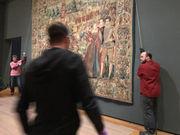 Delicate work: Raising a 'Renaissance Splendor' tapestry at Cleveland Museum of Art