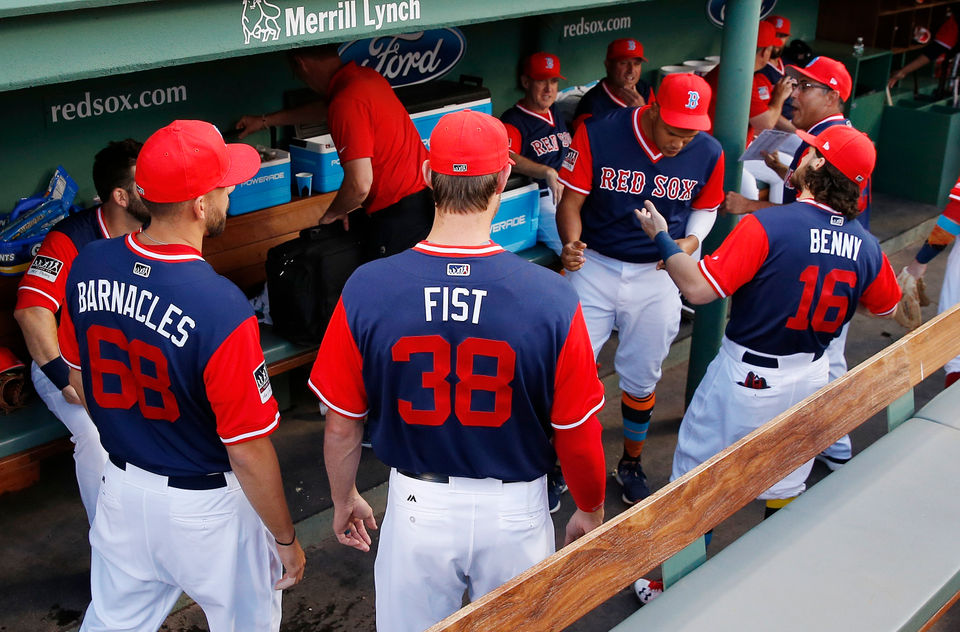 2bf9f9e863f MLB Players Weekend 2018  Which nicknames are the Boston Red Sox using this  season